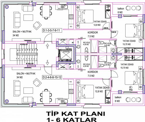 Ozy-190-Kat-Plani